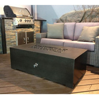 2 Foot x 5 Foot Rectangular You-Design-It Custom Made Fire Pit Table