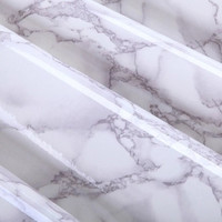 61cmx2m Gray Marble Waterproof Vinyl Self adhesive Wallpaper Sticker Modern Contact Paper Kitchen Cupboard Shelf Drawer LinerDIY