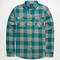 Shouthouse Lancaster Mens Flannel Shirt Teal Blue  In Sizes