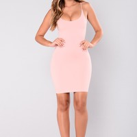 Jamie Bodycon Dress - Pink