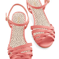 ModCloth Better Plait than Never Sandal in Pink