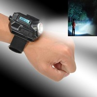Portable LED Wrist Watch USB Wrist Flashlights Torch 4 Mode Wristlight Rechargeable Tactical Flashlight For Outdoor Sports