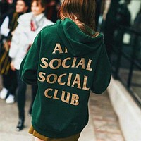 ANTI SOCIAL CLUB Fashion Casual Long Sleeve Sweater Pullover Sweatshirt