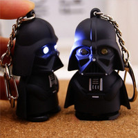 Star Wars Darth Vader LED Flashlight Keychain Toy With Sound