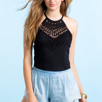 Crochet Cami Crop Top