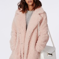 Missguided - Celine Teddy Faux Fur Pink