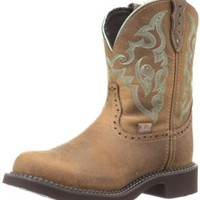 """Justin Boots Women's Gypsy Collection 8"""" Boot with Perfed Saddle Vamp,Tan Jaguar,5 B US"""