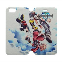 KINGDOM HEARTS Wallet Case for iPhone 4/4S 5/5S/SE 5C 6/6S Plus Samsung Galaxy S4 S5 S6 Edge Note 3 4 5