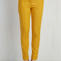 Situationally Savvy Pants in Mustard