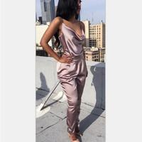 Light Purple Spaghetti Strap Sleeveless Jumpsuit