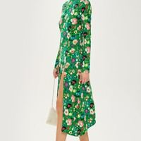 Floral Chuck On Midi Dress - Dresses - Clothing