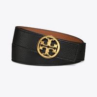 "Tory Burch 1.5"" Reversible Logo Belt"