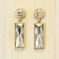Aristocrat Crystal Earrings In Gold