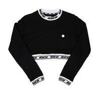 RICH BAND CROPPED CREW / BLACK