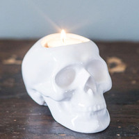 Skulls The More You Glow Candle Holder by ModCloth