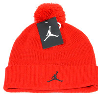 Jordan Adult's Pom Red Jumpman Beanie Hat 686932 687 OS