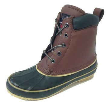 G-9021SC Women's Duck Boots Leather Waterproof Thermolite Insulated Hiking 5-Eye Winter Shoes