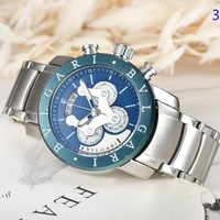 Bvlgari New fashion letter round shell watchband couple watch 3#