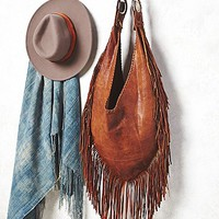 Totem Salvage Womens Willow Fringe Hobo