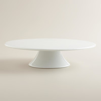 White Porcelain Cake Stand - World Market