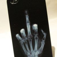 Cool X-ray Finger Hard Cover Case For Iphone 4/4s
