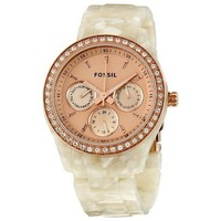 Fossil Women's ES2887 Stella Rose Gold Dial Watch: Watches: Amazon.com