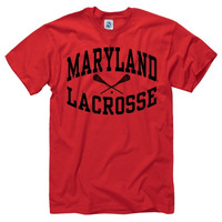 Maryland Terrapins Red Reflect Lacrosse T-Shirt