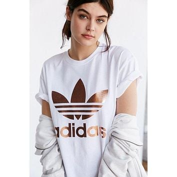 """Adidas"" Print Short Sleeve Shirt Top Tee Blouse"