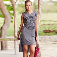 Elephant Printed T Shirt Dress