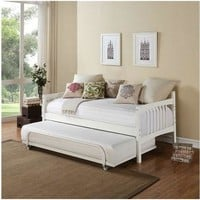 Twin Size Daybed In White Wood Finish - Trundle Sold Separately