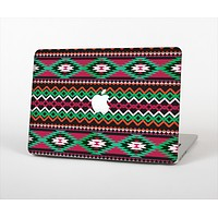 """The Vector Green & Pink Aztec Pattern Skin Set for the Apple MacBook Pro 13"""""""