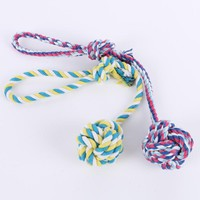 Cotton Rope Toys Pet Toy Dog Bite Rope Knot Ball Molar Tooth Cleaning Rope Toy