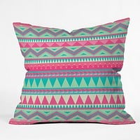 Iveta Abolina Pink Navajo Throw Pillow