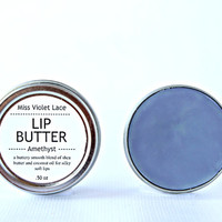 purple LIP BALM. lip balm / lip cream - amethyst