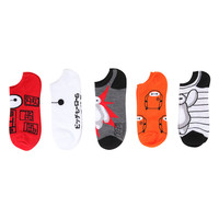 Disney Big Hero 6 Baymax No-Show Socks 5 Pair
