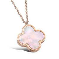 Rose Gold Plated Stainless Steel Shell Pendant