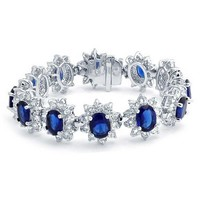 Bling Jewelry Sapphire Noir Bangle