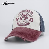 Trendy Winter Jacket Recreation Washed Retro Baseball Cap NYPD Fashion Baseball Cap Snapback Hat Cap Men Women Casual Adjustable Hats Bone Gorra 2018 AT_92_12