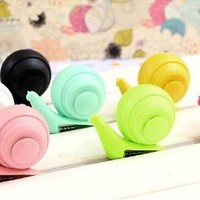 Noarks Colors Mini Snail Speaker Portable Music Player Audio Dock for 3.5mm Phone and other Audio Output Devices iPhone5, I9500(Light Blue)
