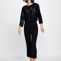 SPARKLY PLEATED TOP