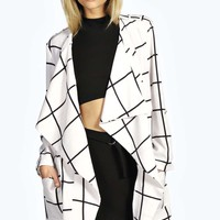 Sally Check Duster Coat