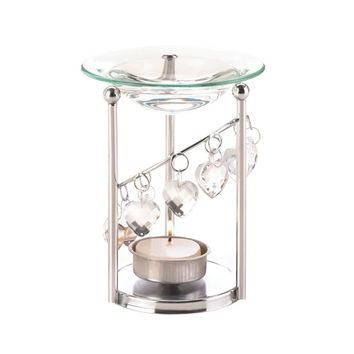 Bejeweled Tealight Oil Warmer w/10 Pack Tealight Candles
