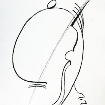 The Bassist (Offset Lithograph)
