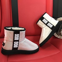 UGG new fluorescent jelly boots ladies personalized snow boots Shoes