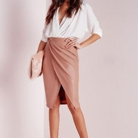Fashion Sexy Women High Waist Bandage Bodycon Vintage Faux Leather Pencil Skirts = 5613065473