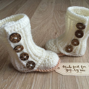 Crochet Baby Girl Wrap Boot - Baby Shower Gift