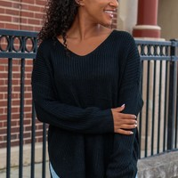 Falling for Autumn Sweater - Black