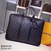 LV Louis Vuitton MONOGRAM CANVAS Porte-Documents Voyage BRIEFCASE CROSS BODY BAG