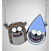 The Regular Show Mordecai and Rigby Necklace