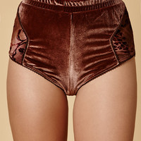 Somedays Lovin Marie Burnout Velvet High-Waisted Panties at PacSun.com